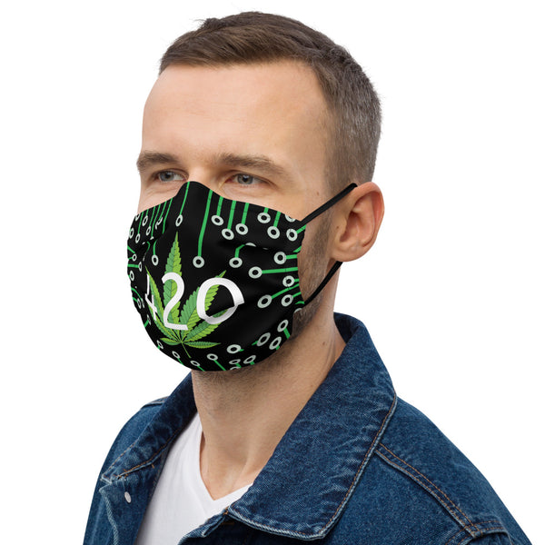 420 Circuit Board Weed Leaf Premium 2 Layer Face Mask - Magic Leaf Tees