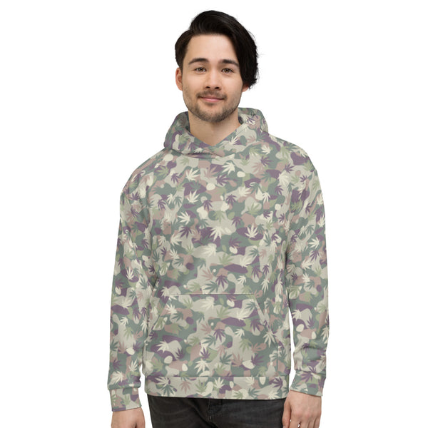 US Army Camouflage Cannabis Leaves Unisex Hoodie