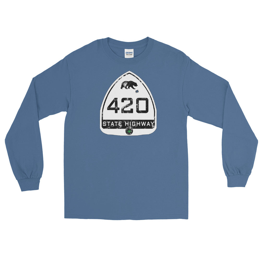 Vintage California State Highway 420 Long Sleeve T-Shirt - Magic Leaf Tees