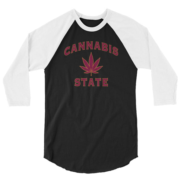 Cannabis State 420 Raglan - Magic Leaf Tees