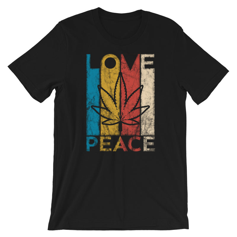 Love Peace Weed T-Shirt - Magic Leaf Tees