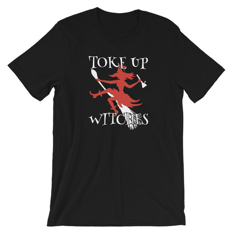 Toke Up Witches Halloween Weed T-Shirt - Magic Leaf Tees