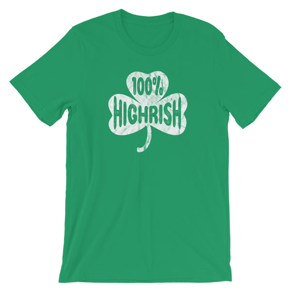 100% Highrish Funny Marijuana St Patrick's Day T-Shirt - Magic Leaf Tees