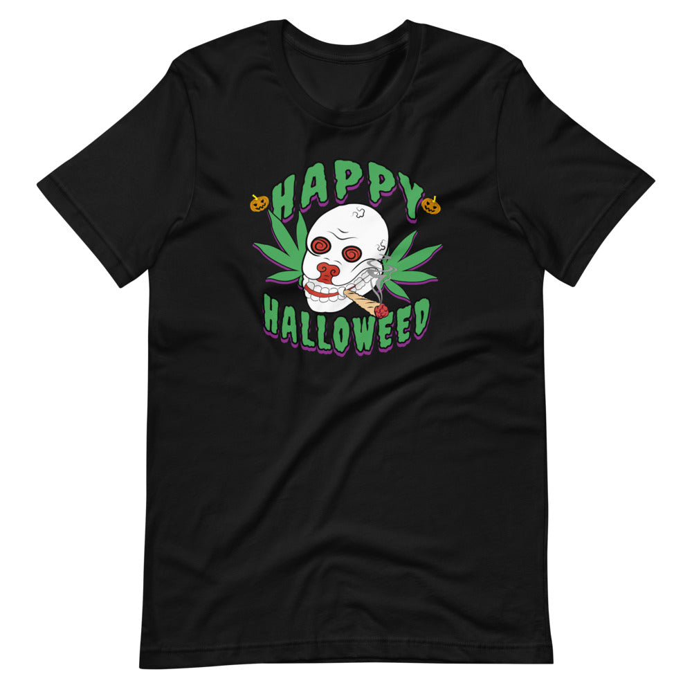 Happy Halloweed Funny Stoner Halloween T-Shirt - Magic Leaf Tees