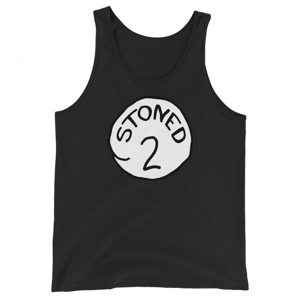 Stoned 2 Couples Unisex Tank Top - Magic Leaf Tees