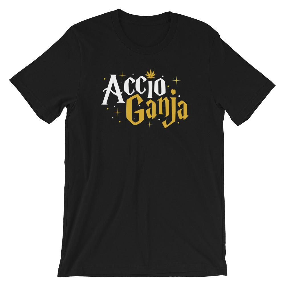 Accio Ganja Weed Wizard T-Shirt - Magic Leaf Tees