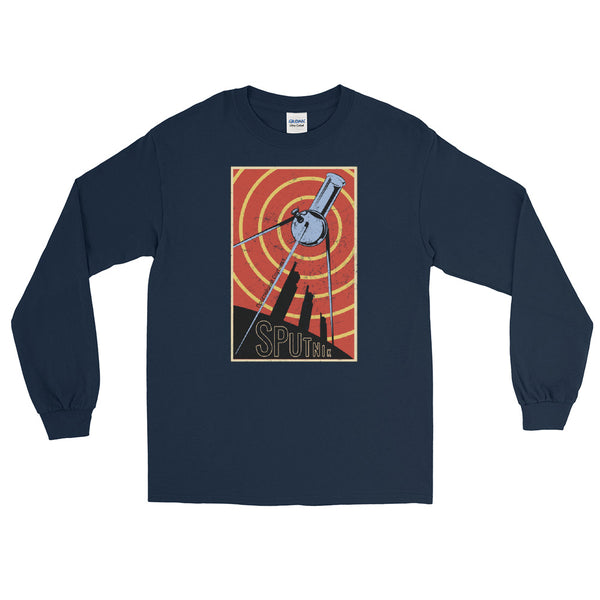 Soviet Sputnik Bong 420 Long Sleeve T-Shirt - Magic Leaf Tees