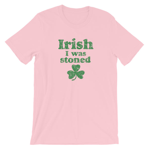 Irish I Was Stoned Funny Stoner St Patrick's Day T-Shirt - Magic Leaf Tees