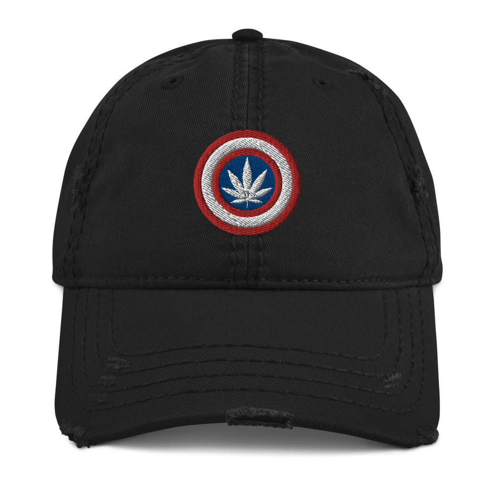 Kaptain Kronic Weed Leaf Distressed Dad Hat - Magic Leaf Tees