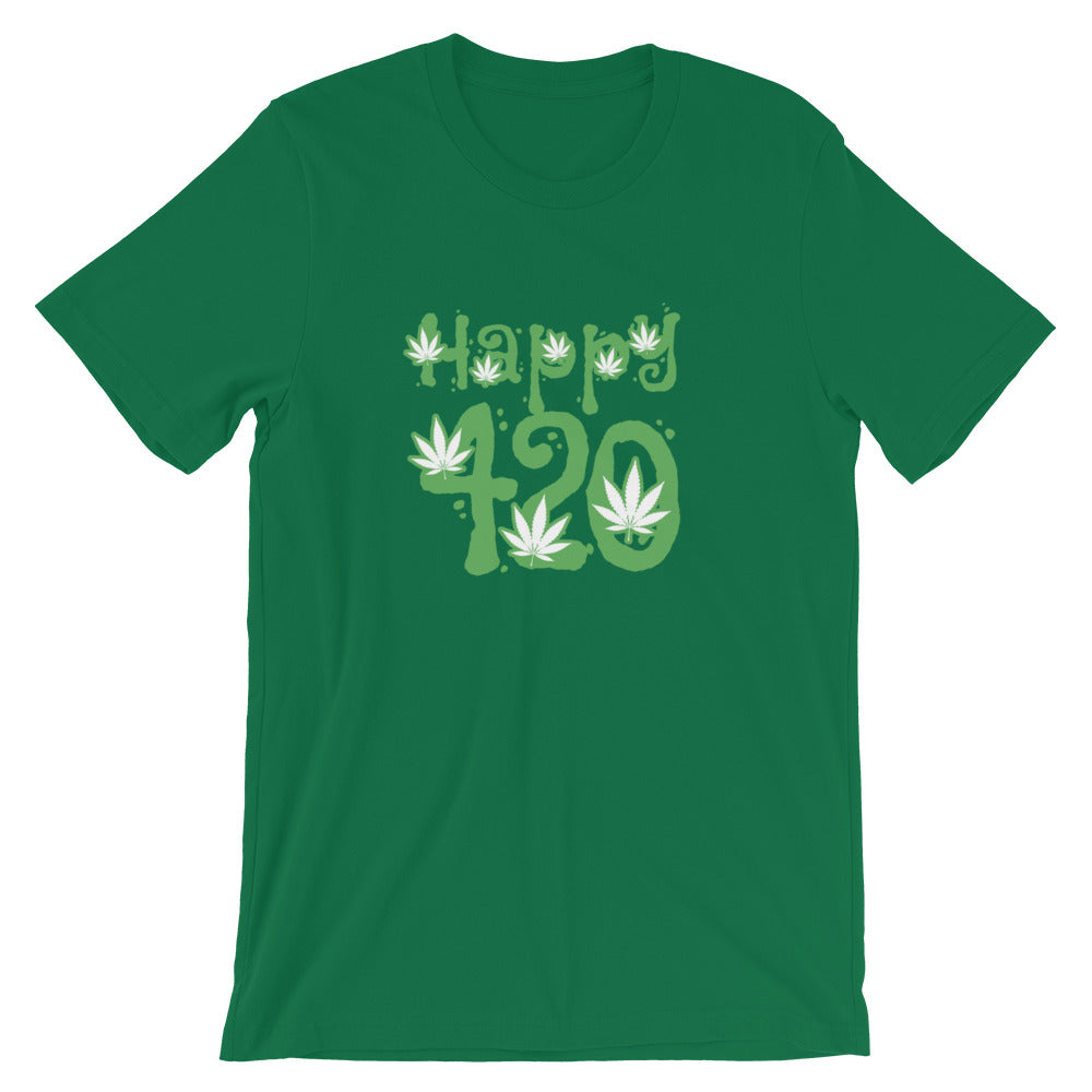 Happy 420 T-Shirt - Magic Leaf Tees