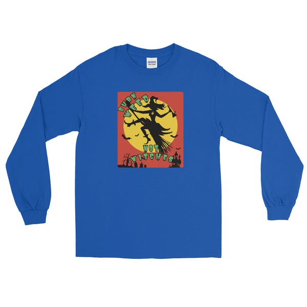 Burn Weed Not Witches 420 Halloween Long Sleeve T-Shirt - Magic Leaf Tees