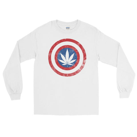 Kaptain Kronic Weed Leaf Long Sleeve T-Shirt