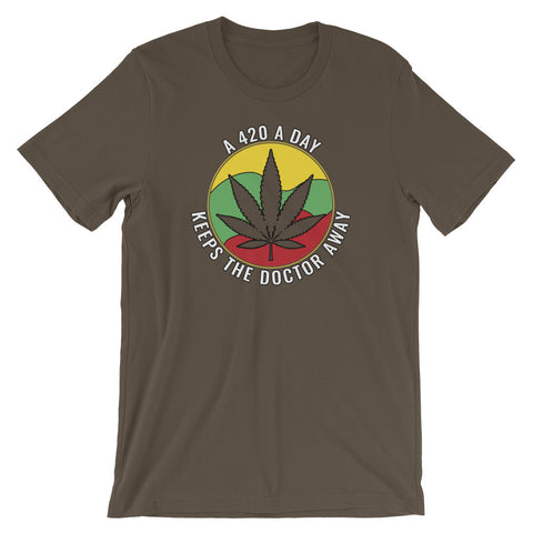 A 420 A Day Keeps The Doctor Away Cannabis T-Shirt - Magic Leaf Tees