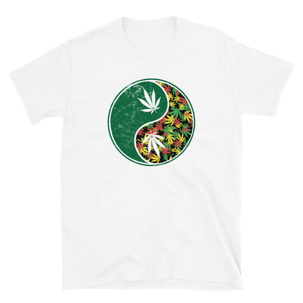 Yin Yang Weed Pot Leaf 420 T-Shirt - Magic Leaf Tees