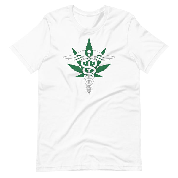 Medical Marijuana Caduceus Staff of Hermes T-Shirt - Magic Leaf Tees