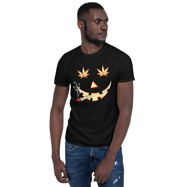 Weed Happy Jack-O-Lantern 420 Halloween T-Shirt - Magic Leaf Tees