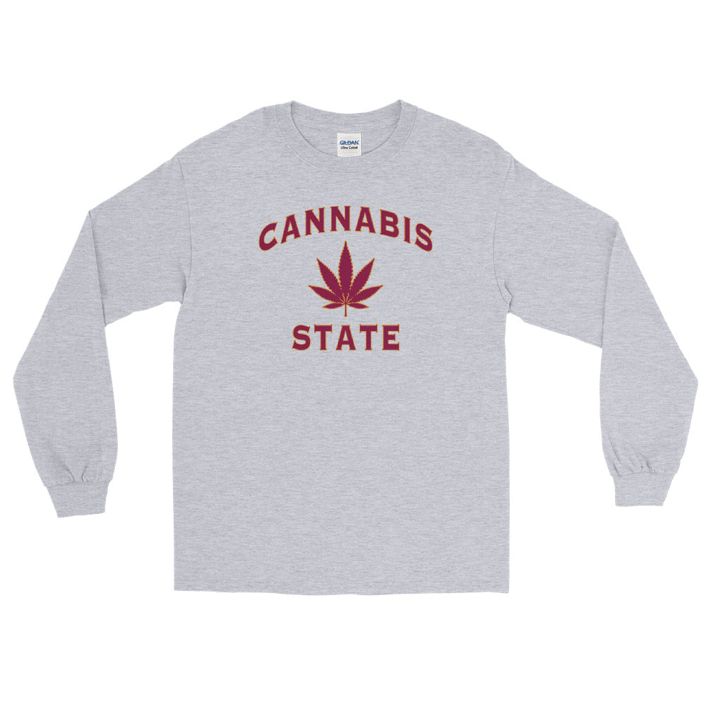 Cannabis State 420 Leaf Long Sleeve T-Shirt - Magic Leaf Tees