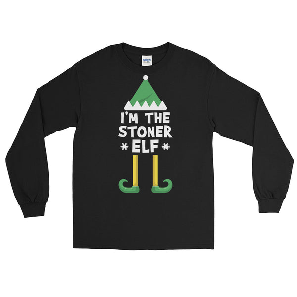 I'm The Stoner Elf Cannabis Christmas Long Sleeve T-Shirt - Magic Leaf Tees