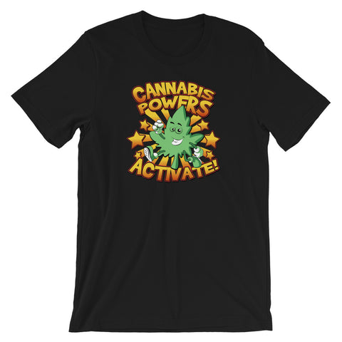 Cannabis Powers Activate Super Hero Short-Sleeve Unisex T-Shirt