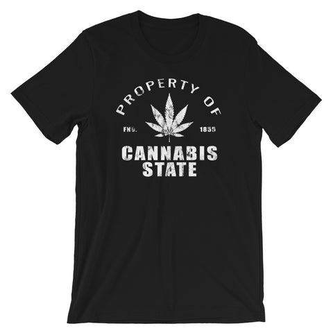 Property of Cannabis State college jersey 420 T-Shirt