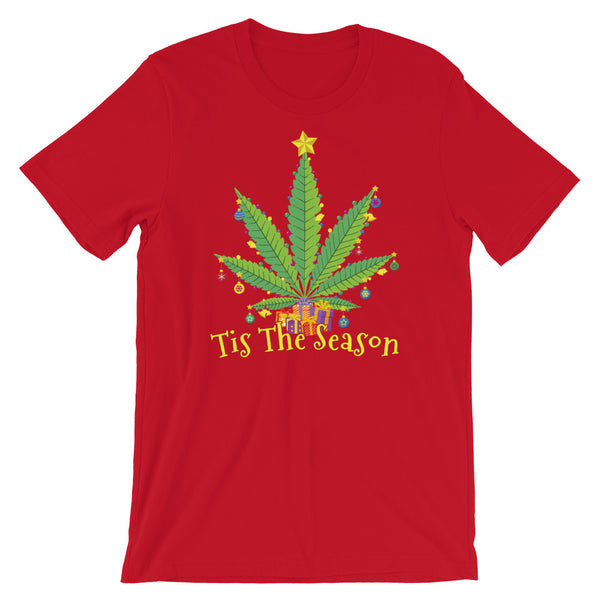 Tis The Season Weed Christmas T-Shirt - Magic Leaf Tees