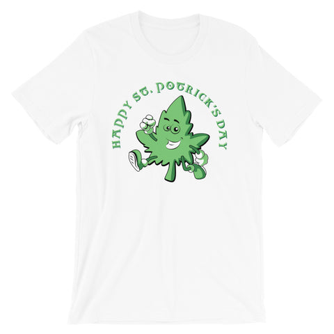 Happy St. Potrick's Day Stoner T-Shirt - Magic Leaf Tees