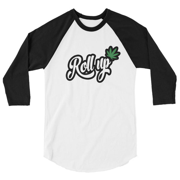 Roll Up Cannabis Raglan - Magic Leaf Tees