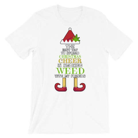 Christmas Cheer Weed Elf T-Shirt