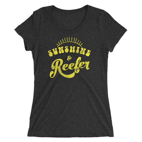 Sunshine And Reefer Women's T-Shirt - Magic Leaf Tees