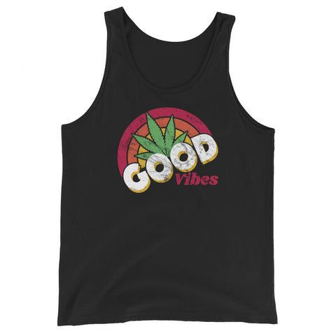 Good Vibes Cannabis Sunshine Unisex Tank Top - Magic Leaf Tees