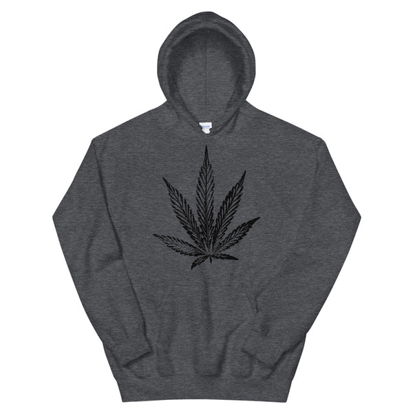 Cannabis Leaf Ink Stamp Stoner Hoodie - Magic Leaf Tees