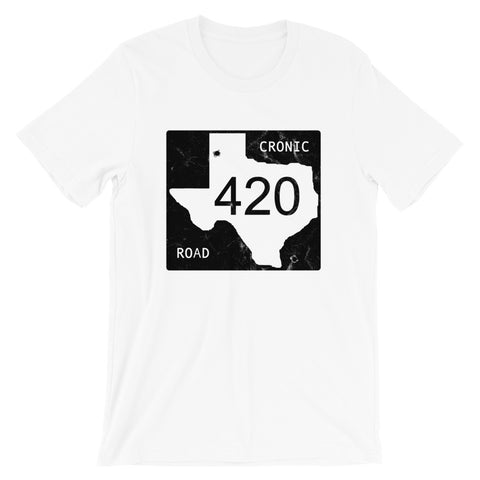 Texas Cronic Road Cannabis T-Shirt - Magic Leaf Tees