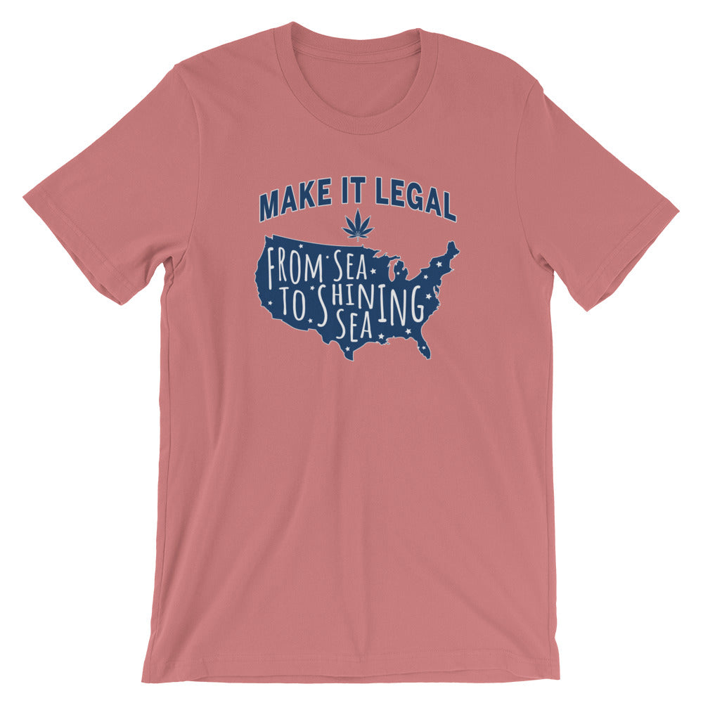 Make Marijuana Legal From Sea To Shining Sea T-Shirt - Magic Leaf Tees