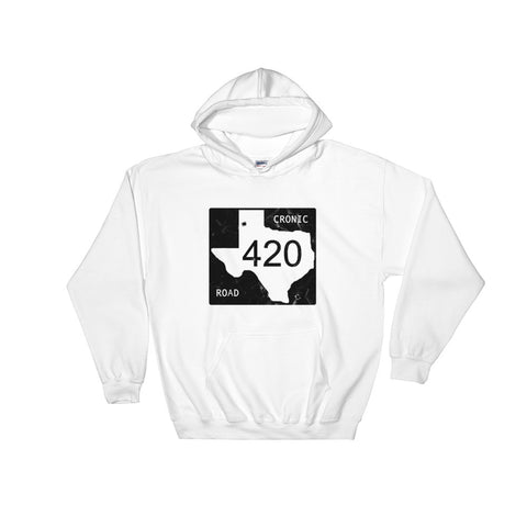 Texas Cronic Road Cannabis Hoodie - Magic Leaf Tees
