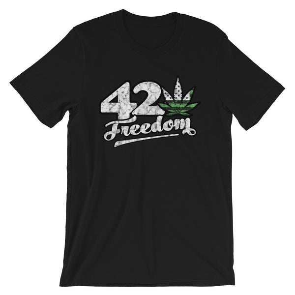 420 Freedom Legalize Marijuana T-Shirt - Magic Leaf Tees