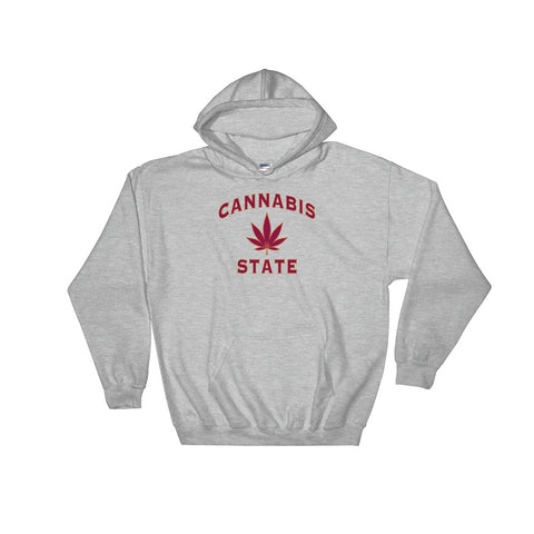 Cannabis State 420 Leaf Hoodie - Magic Leaf Tees