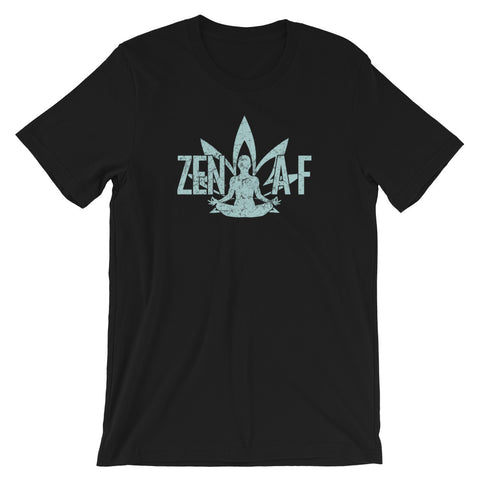 Zen AF Marijuana Leaf Cannabis 420 Buddhist T-Shirt - Magic Leaf Tees