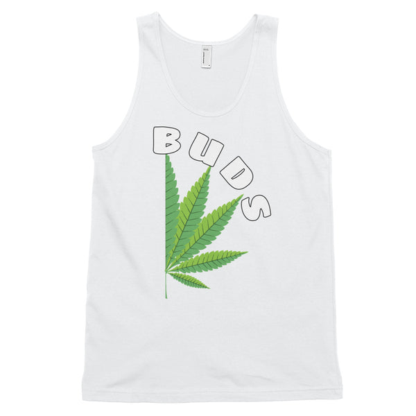 Couples Matching Best Buds Pot Leaf Unisex Tank Top - Magic Leaf Tees