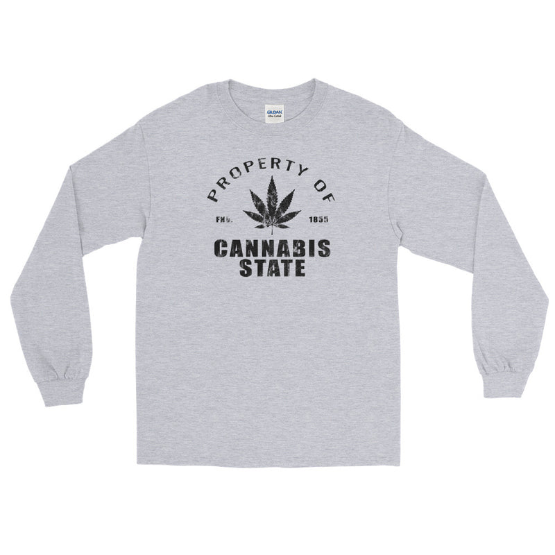 Property Of Cannabis State Long Sleeve T-Shirt - Magic Leaf Tees