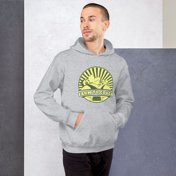 Farm To Couch Funny Weed Farmer Hoodie - Magic Leaf Tees