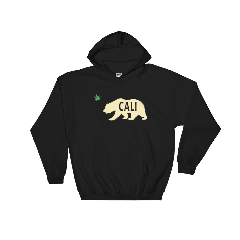 California Grizzly Bear Weed Leaf Hoodie - Magic Leaf Tees
