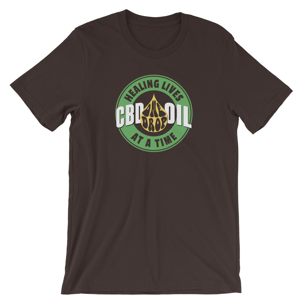 CBD Oil Healing Lives One Drop At A Time T-Shirt - Magic Leaf Tees