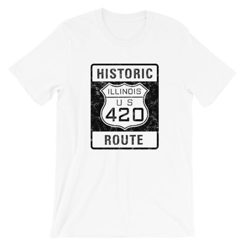 Illinois Historic Route 420 Highway Sign T-Shirt - Magic Leaf Tees