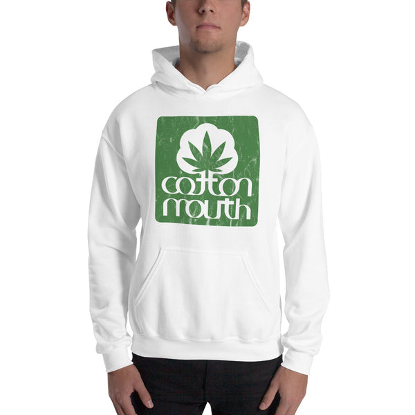 Cotton Mouth Weed Logo 420 Unisex Hoodie - Magic Leaf Tees