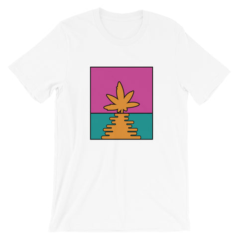 Pop Art Cannabis Leaf Sunset T-Shirt - Magic Leaf Tees