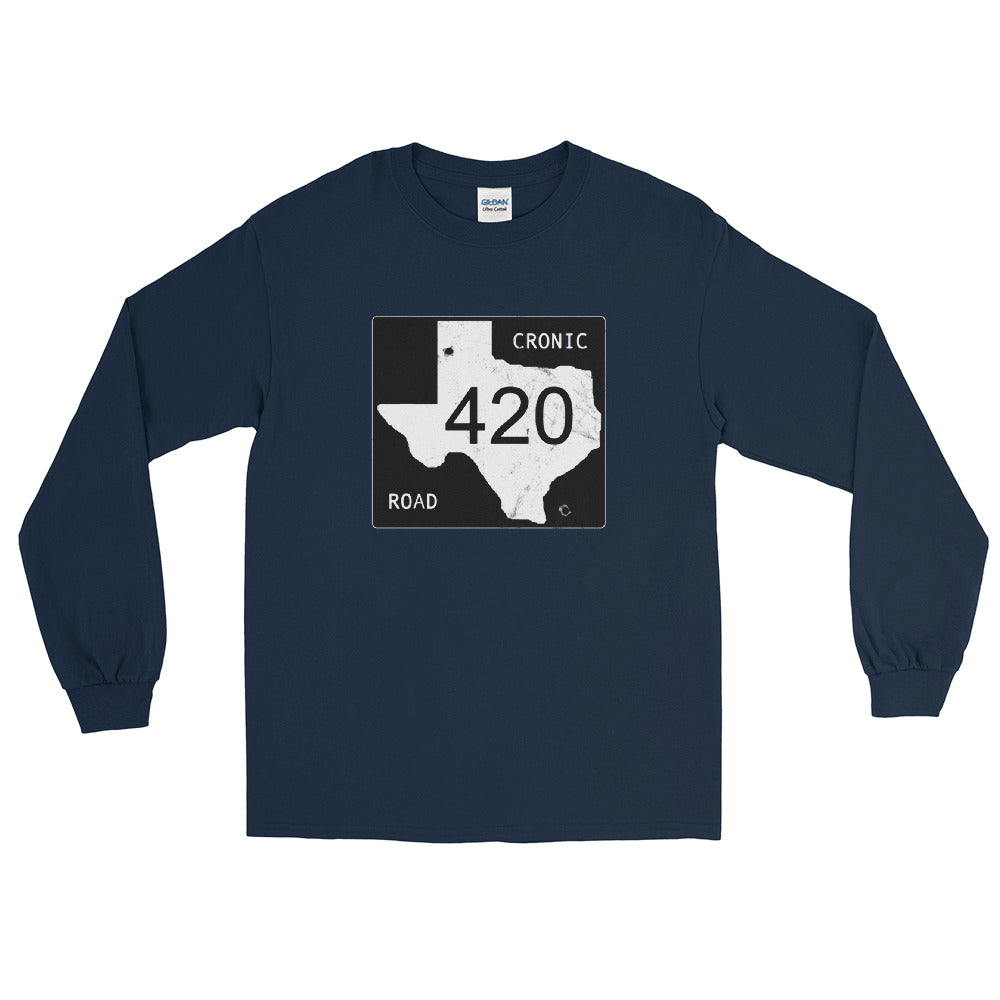 Texas Farm Road Cronic 420 Long Sleeve T-Shirt - Magic Leaf Tees