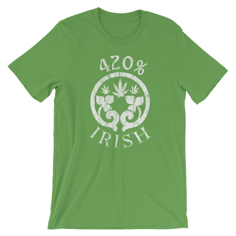 420% Irish St Patrick's Day Weed T-Shirt - Magic Leaf Tees