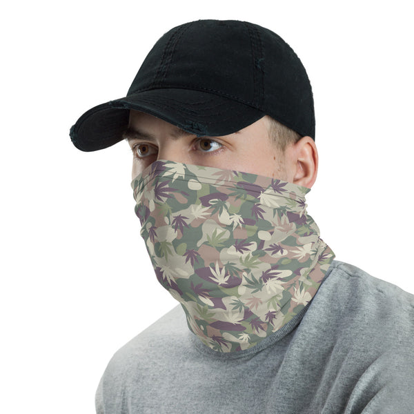 US Army OCP Camo Cannabis Leaves Neck Gaiter - Magic Leaf Tees