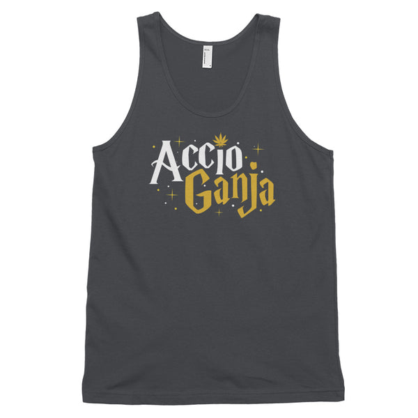 Accio Ganja Weed Wizard Unisex Tank Top - Magic Leaf Tees