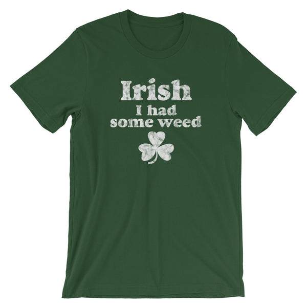 Irish I Had Some Weed Funny St Patrick's Day Stoner T-Shirt - Magic Leaf Tees